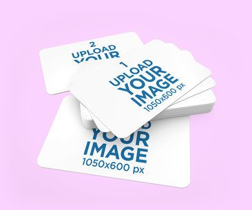 Mockup of a Pile of Customizable Gift Vouchers 1552-el