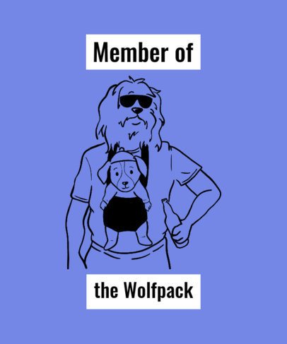 Funny T-Shirt Design Maker with a Dogs Recreating The Hangover Poster 2019g