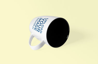 Coffee Mug Mockup Lying on Its Side 1098-el