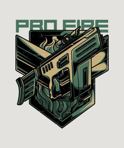 T-Shirt Design Maker with a Tactical Pistol Illustration 27a-el
