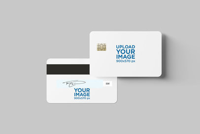 Credit Card Mockup Featuring Both Views 1645-el