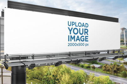 Close-up Mockup of a Billboard Placed over a Freeway 1693-el