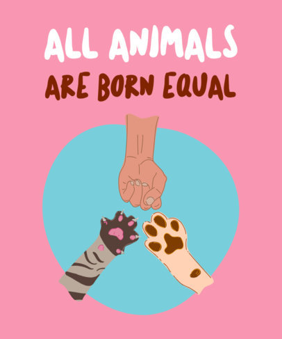 Cause T-Shirt Design Maker Defending Animal Rights 2021f