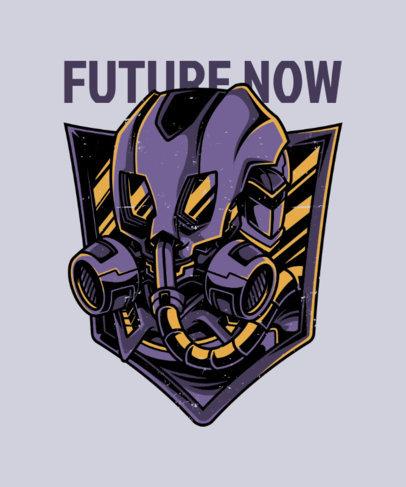 T-Shirt Design Generator with a Futuristic Gas Mask Illustration 27e-el