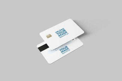 Both Sides Mockup of a Credit Card 1646-el
