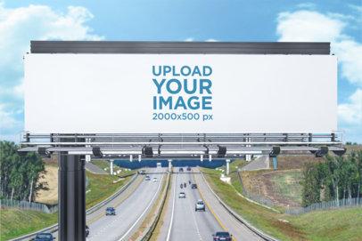 Mockup of a Billboard Placed over a Highway 1695-el