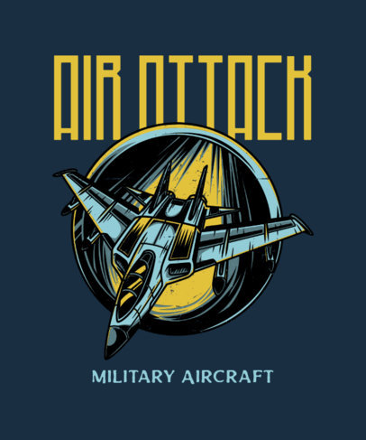 War-Themed T-Shirt Design Maker with a Speeding Jet Illustration 27f-el