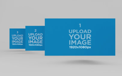 Multiple Website Screen Mockup Featuring a Plain Background