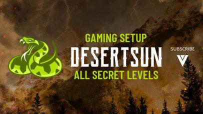 YouTube Banner Design Template Featuring a PUBG-Inspired Desert Snake 1982j-2069