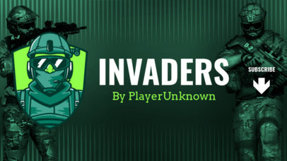 YouTube Banner Maker with a PUBG-Inspired Soldier Character