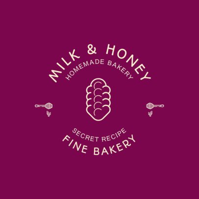 Homemade Bakery Logo Template with a Bread Clipart 220b-el