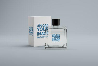 Perfume Mockup Featuring a Minimalistic Setting 1541-el