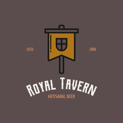 Beer Brand Logo Maker with Medieval Icons 237-el