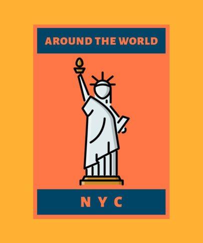 T-Shirt Design Maker with a Statue of Liberty Illustration 362a-el
