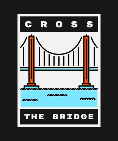 T-Shirt Design Creator with an Illustration of the Golden Gate Bridge 362d-el