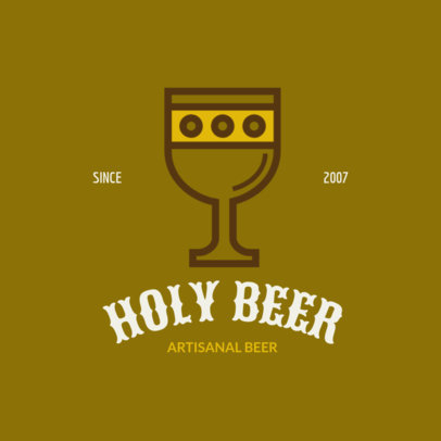 Beer Brand Logo Creator with Medieval Graphics 237c-el