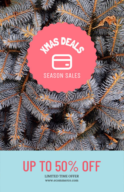 Xmas Flyer Template for a Seasonal Sale 252b-el