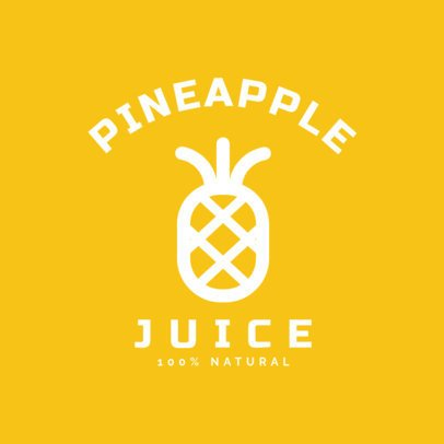 Minimal Juice Logo Template Featuring a Pineapple Clipart 253b-el