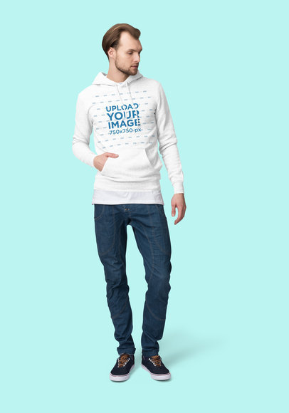 Hoodie Mockup Featuring a Serious-Looking Man at a Studio 1792-el