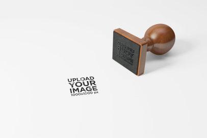 Squared Rubber Stamp Mockup 1708-el