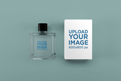 Perfume Mockup Featuring a Customizable Surface 1542-el