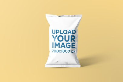 Chips Bag Mockup Featuring a Solid Background 1537-el1