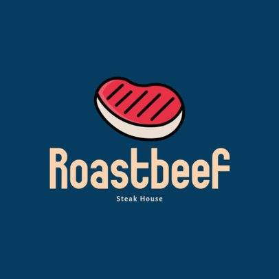 Restaurant Logo Maker with a Beef Steak Icon 276a-el