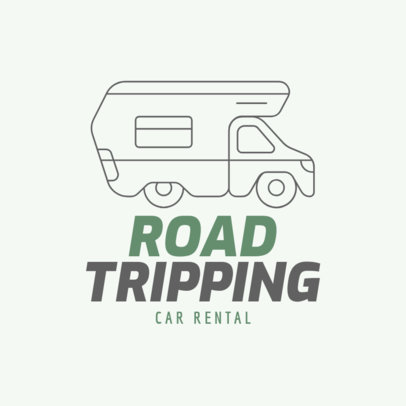 Car Rental Logo Maker Featuring a Camper Icon 277a-el