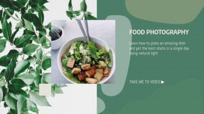 YouTube Banner Maker with Tips on How to Plate your Food 2054h