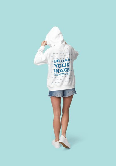 Back View Mockup of a Woman Wearing a Hoodie at a Studio 1797-el1