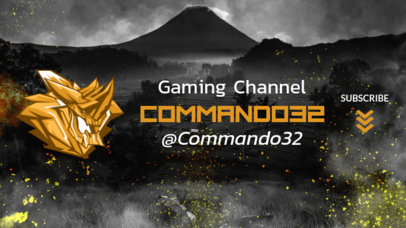 YouTube Banner Maker for a Gamer Featuring PUBG-Inspired Illustrations 2065b