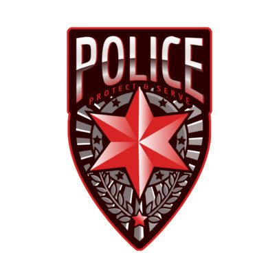 Gaming Logo Maker Featuring a Police Star Graphic 2770b