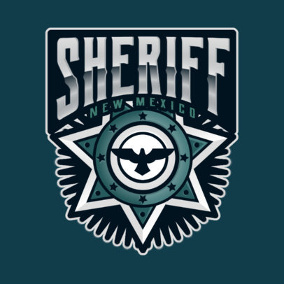 Gaming Logo Maker with a Sheriff Badge Illustration 2770d
