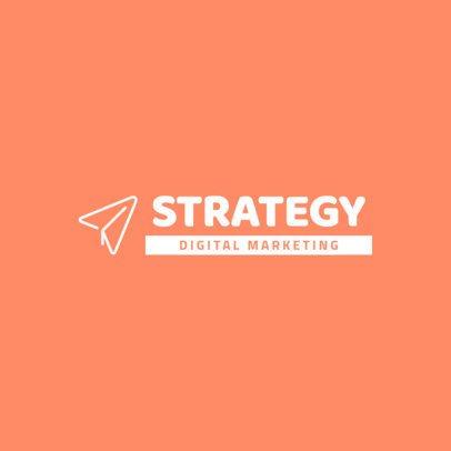 Simple Logo Design Maker for a Digital Marketing Agency 292c-el