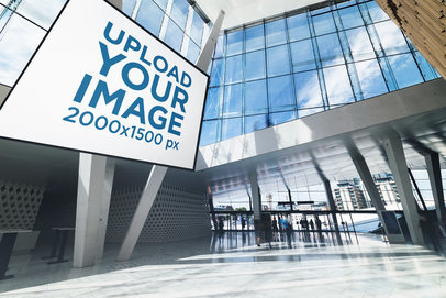 Mockup of a Billboard inside a Modern Building with Natural Lighting 1894-el