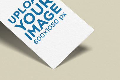 Vertical Business Card Mockup Featuring a Minimal Setting 1686-el