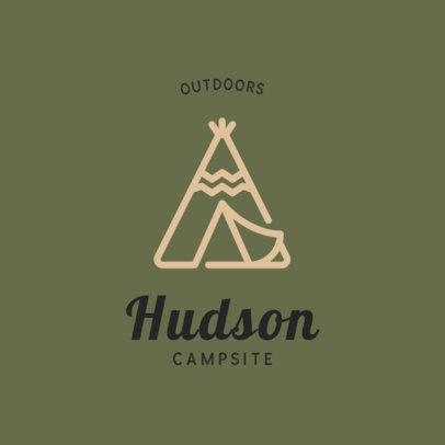 Outdoor Logo Template for Camping Parks 293-el