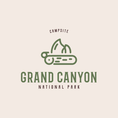 Campsite Logo Generator Featuring a Bonfire Icon 293c-el