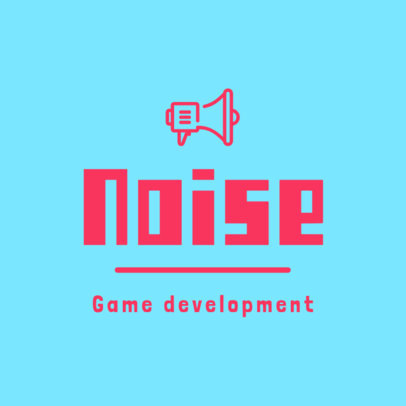 Game Development Logo Maker with a Megaphone Graphic 267c-el