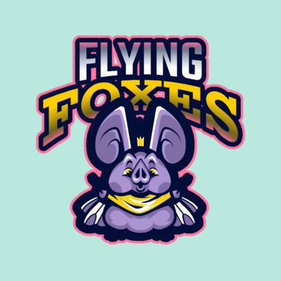 Logo Maker with a Chubby Vampire Bat Mascot 2766c
