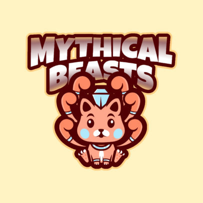 Gaming Logo Creator with a Mythical Creature 2766q
