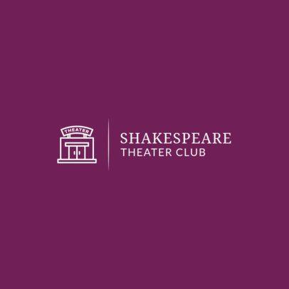 Simple Logo Maker for a Theater School 275a-el