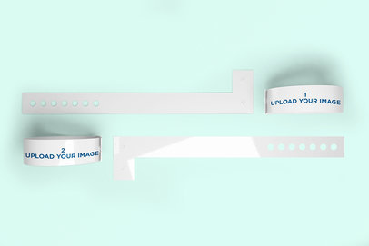 Mockup of a Set of Vinyl Wristbands 1428-el