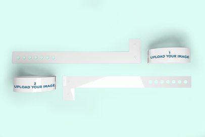 Mockup of a Set of Vinyl Wristbands 1428-el
