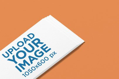 Logo Mockup of an Angled Business Card Against a Plain Backdrop 1685-el