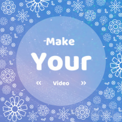 Instagram Video Maker for a Promo Video with Floral Motion Graphics 1345