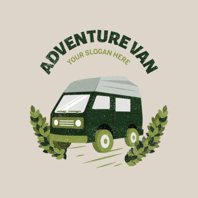 Van Rental Logo Maker Featuring a Camper Clipart 2773e