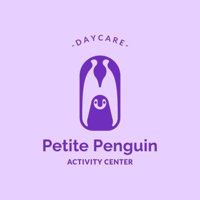 Daycare Logo Maker Featuring a Penguin Design 1928g-2760