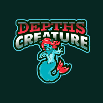 Logo Template Featuring a Bizarre Mermaid Character 2766cc