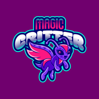 Gaming Logo Maker Featuring a Flying Critter Cartoon 2766gg